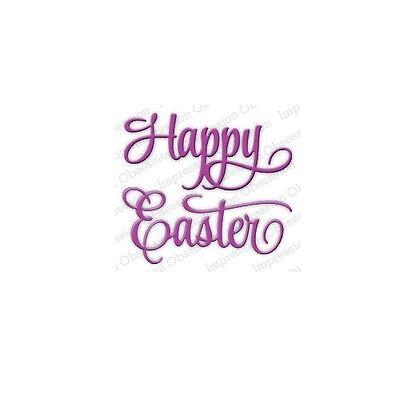 Happy Easter Die Cutting Die Crafts Die by IMPRESSION OBSESSION DIE367-J New
