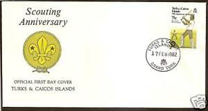 TURKS-amp-CAICOS-1982-75th-ANNIV-SCOUTS-CRICKET-1v-FDC