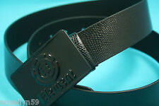 ELEMENT Classic Mens Black Snake print Pu Belt Size Medium 106cm NEW