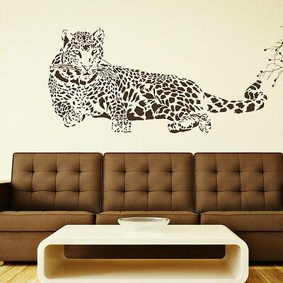 Huge Leopard Big Cat Wall Sticker / Animal Art Wall Decor Big Cat Transfers CA4