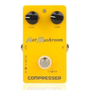 Caline-CP-10-Kompressor-Gitarren-Effekt-Pedal-Heiss-Pilz-Aluminiumlegierung-N6U4