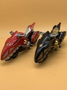 "2004 POWER RANGERS Dino Thunder 6"" Gold & Red RAPTOR MEGA CYCLE Vehicle Used"