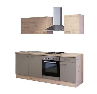 Küchenblock mit E Geräten Küchenzeile Einbauküche ...
