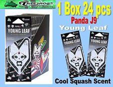 1 Box 24 pack Treefrog Panda J9 YOUNG LEAF Car Air Freshener  Cool Squash Scent