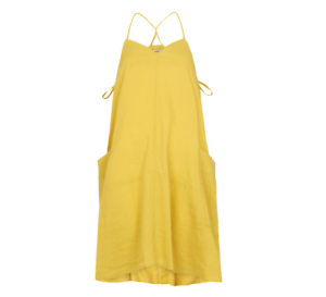 Whistles - - Marina Linen Swing Dress - Yellow - New With Tag - Size 12