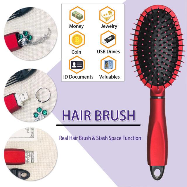 Hair Brush Stash Safe Diversion Secret Security Hidden Valuable Hollow Container