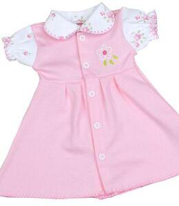 babyprem-Prematuro-Ropa-Bebe-De-Nina-Rosa-Vintage-Vestido-Estampado-0-7-3-4kg