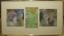 Marcia Marx Rare Expressionist Satirical WC Portraits Listed NY Artist