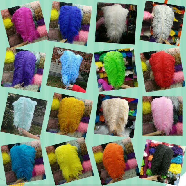 "High Quality female body Ostrich Feathers 12-14/"" 30-35 cm UK SELLER"