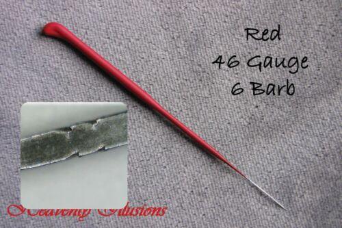 Heavenly Illusions Coated German Rooting Needle Red 46 Gauge 6 Barb