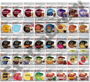 3x TASSIMO T-DISCS PACKS, COFFEE PODS. ALL 47 BLENDS inc CHOCOLATE, TEA.