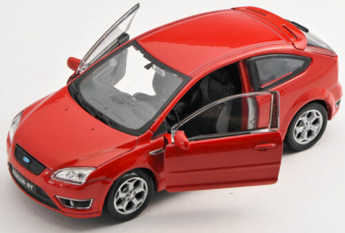 BLITZ VERSAND Ford Focus ST rot red Welly Modell Auto 1:34  NEU /& OVP