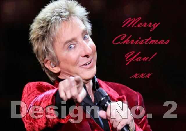 Barry Manilow PERSONALISED Birthday Card any NAME AGE Dad Mum Daughter ANY U