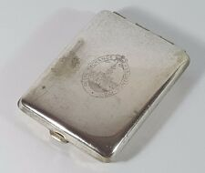 ROYAL EXCHANGE ASSURANCE SILVER PLATED ADVERTISING MATCHBOOK HOLDER & PENNY RED