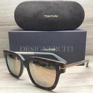 387517896058 Tom Ford Tracy TF 436 TF436 Sunglasses Havana Mud Grey Gold 56G ...