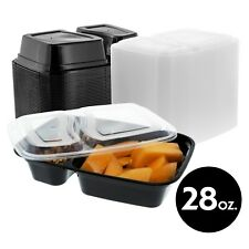 28oz Food Storage Two Compartment Meal Prep Container With Lid 50 150 Pack