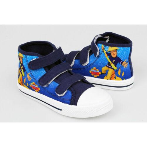 Fireman Sam  Kids Canvas Trainers Shoe Sizes 7-13 Kids New