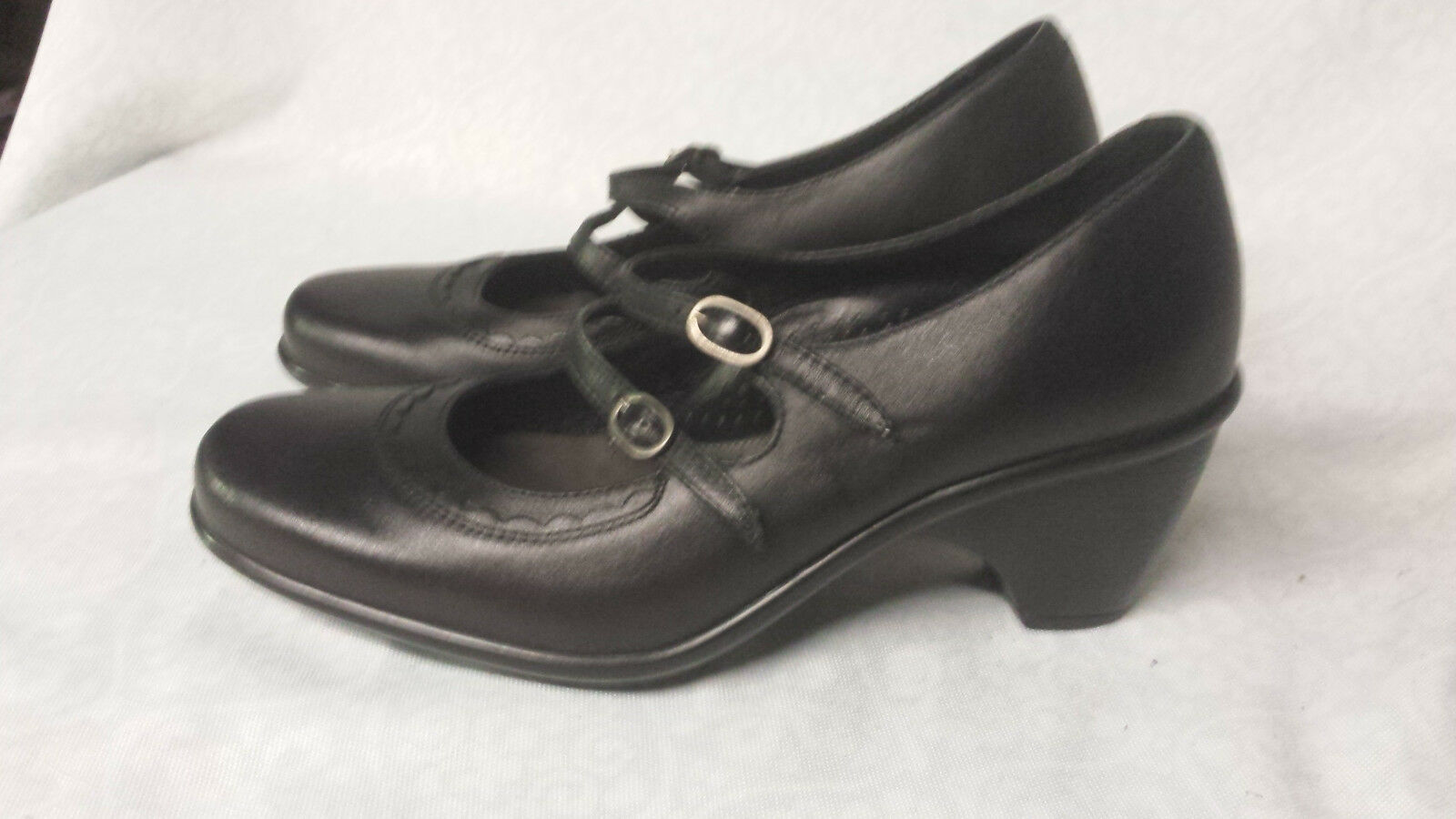 Dansko Black Leather Mary Jane Pumps Clog Heels Women's Size Size Size  EU 37   US 6.5 - 7 f82403