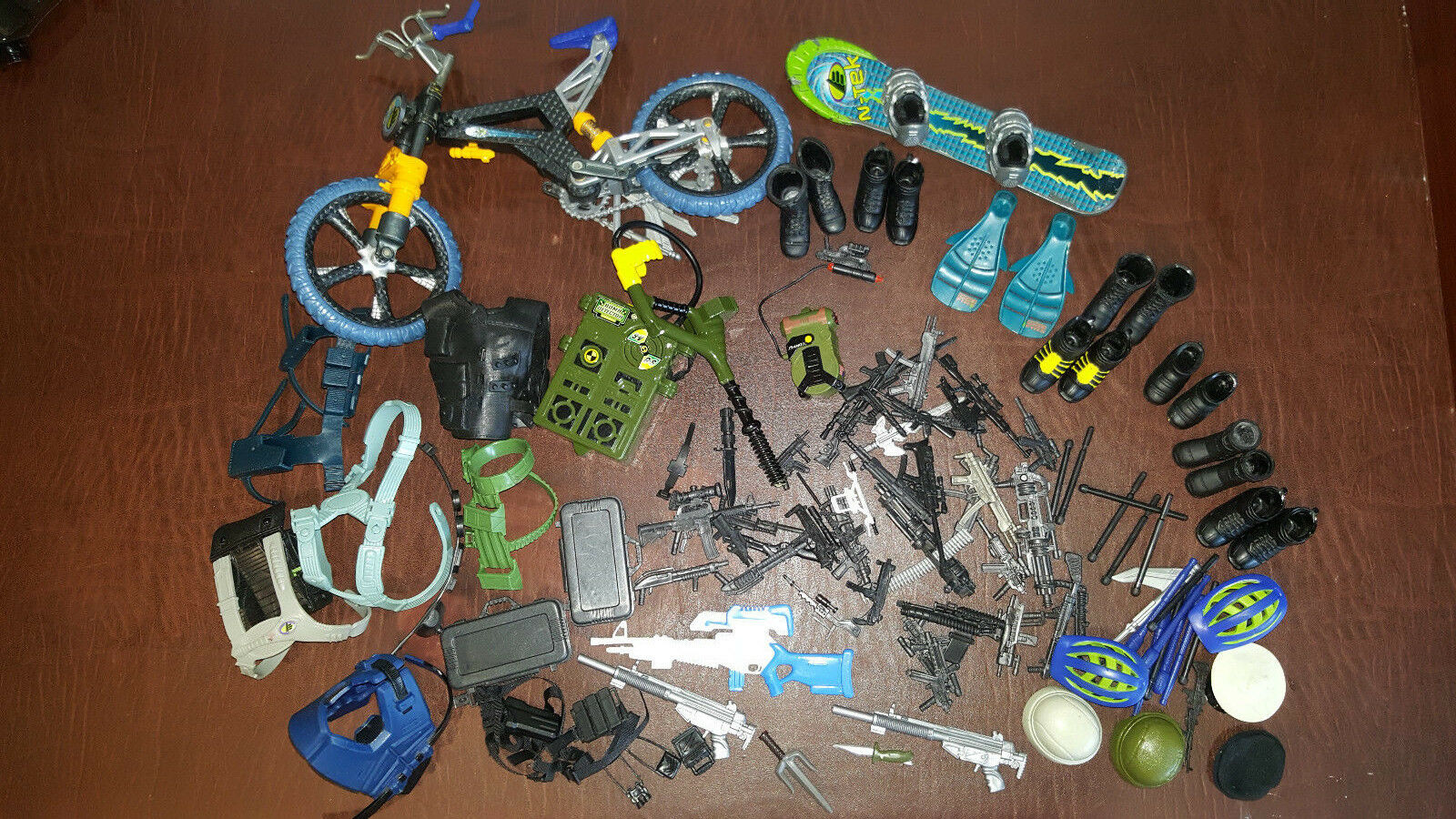 Mix Lot of Misc Accessories Ultra Corps GI Joe Action Hat Guns Boots