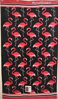 Flamingo Navy Beach Towel 40 X 70 Pink & Blue 100% Plush Cotton