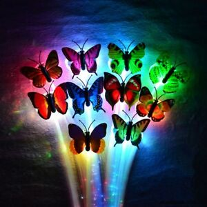 LED-Bunt-Butterfly-Flashing-Hair-Braid-Lights-Up-Christmas-Party-Wig-Neue
