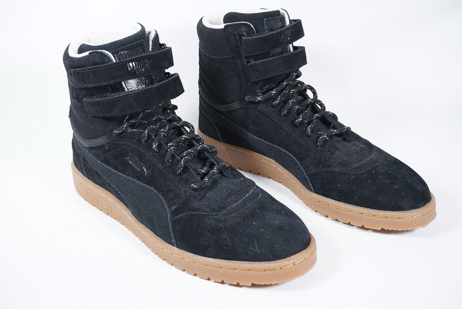 Puma Mens Black Sky II Hi Winterised Dual Strap Lace Up Sneakerboots Sz 10.5 NEW