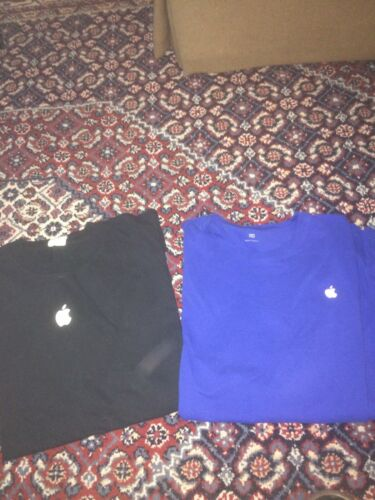 rare vtg APPLE t-shirt lot 2XL XXL black blue whit