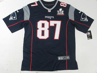 NWT Rob Gronkowski #87 New England Patriots Super Bowl LI 51 Jersey Navy Blue   eBay