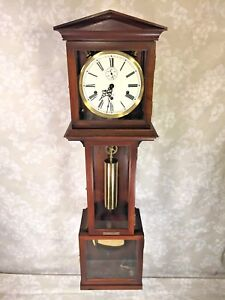 a4e21650aee Image is loading Vintage-Hamilton-Wall-Clock-with-Westminster-Chimes-Weight-