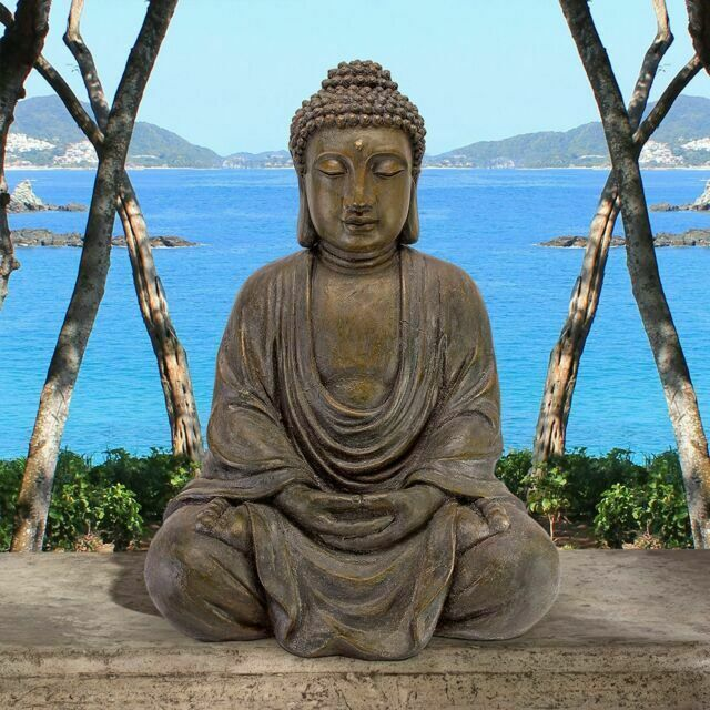 Outdoor Buddha Statue Garden Patio Sculpture Lawn Decorative Figure Yard Decor For Sale Online Ebay