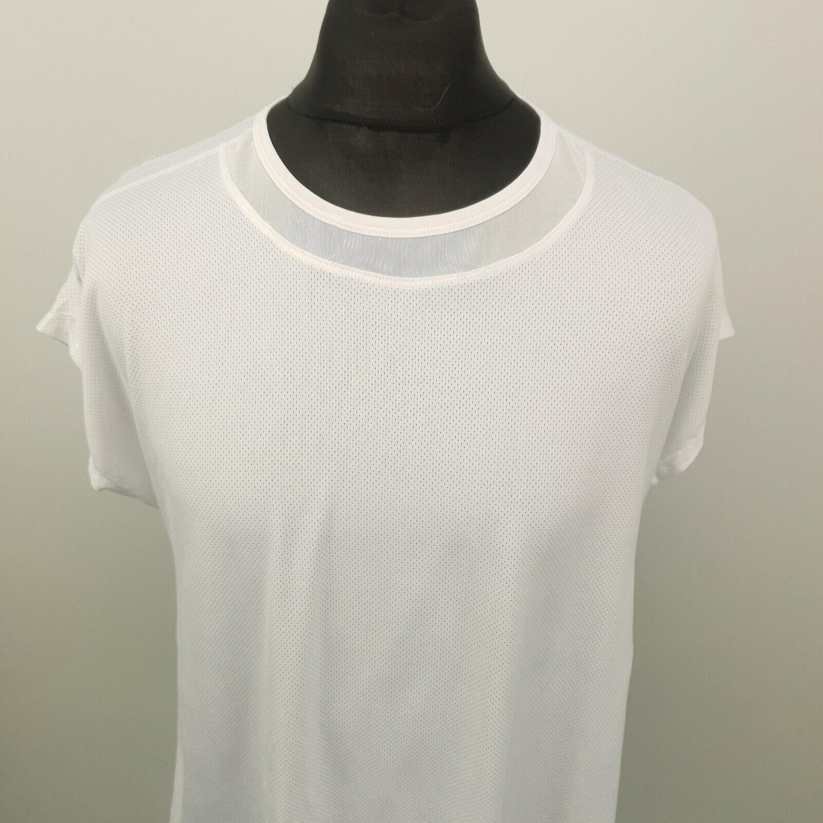 Champion Womens T-Shirt Active Top Shirt RUNNING GYM 2XL White Regular