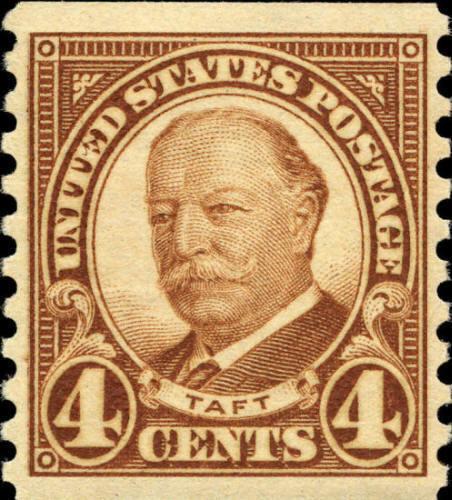 1930 4c Robert Taft, Coil, Brown Scott 687 Mint F/VF NH