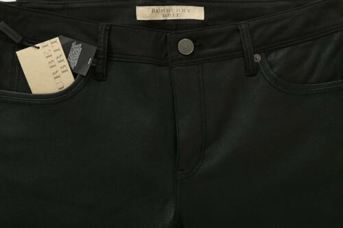 Burberry Lamb Cotton Legging Black Pantalon Ladies slim skinny 32 Nouveau Leather wtda4tq