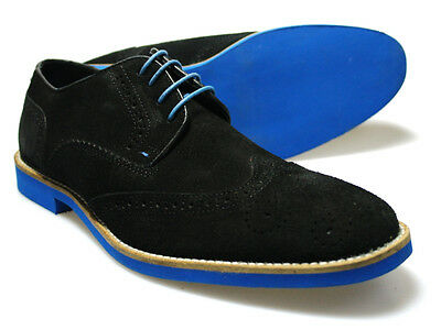 Red Tape Laxford Black Suede Blue Soled Men's Shoes UK 7-12 Free UK P&P RRP £45!