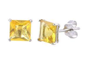 Citrine-CZ-November-Birthstone-Stud-Earrings-925-Sterling-Silver-Square-Basket