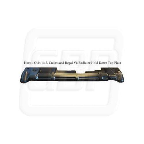 78-88 442 Cutlass Regal V8 307 Upper Radiator Hold Down Top Plate Mounting Panel