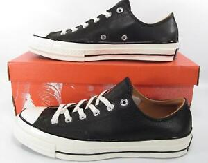 0056298fcfc0 Converse Chuck Taylor All Star 70 s Ox Low Classic BLACK LEATHER ...