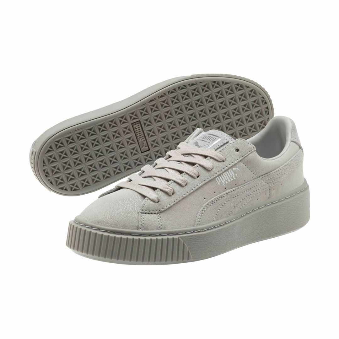 PUMA BASKET SUEDE 1.5  PLATFORM SNEAKERS WOMEN SHOES SHOES SHOES GREY 363313-01 SIZE 9 NEW dbfb61
