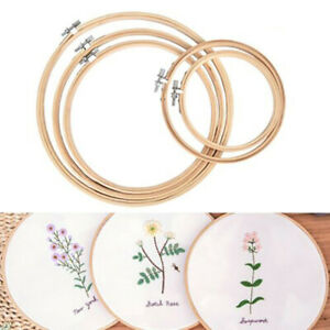 5pcs-Embroidery-Hoops-Circle-Cross-Stitch-Bamboo-Ring-Sewing-Frame-Art-Craft-asf