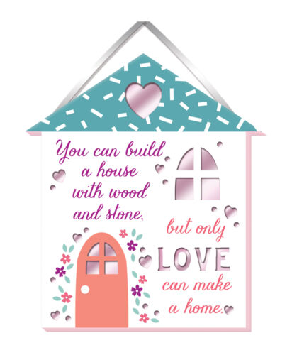 Love Makes A Home Hanging Plaque With Ribbon More Than Words Gift