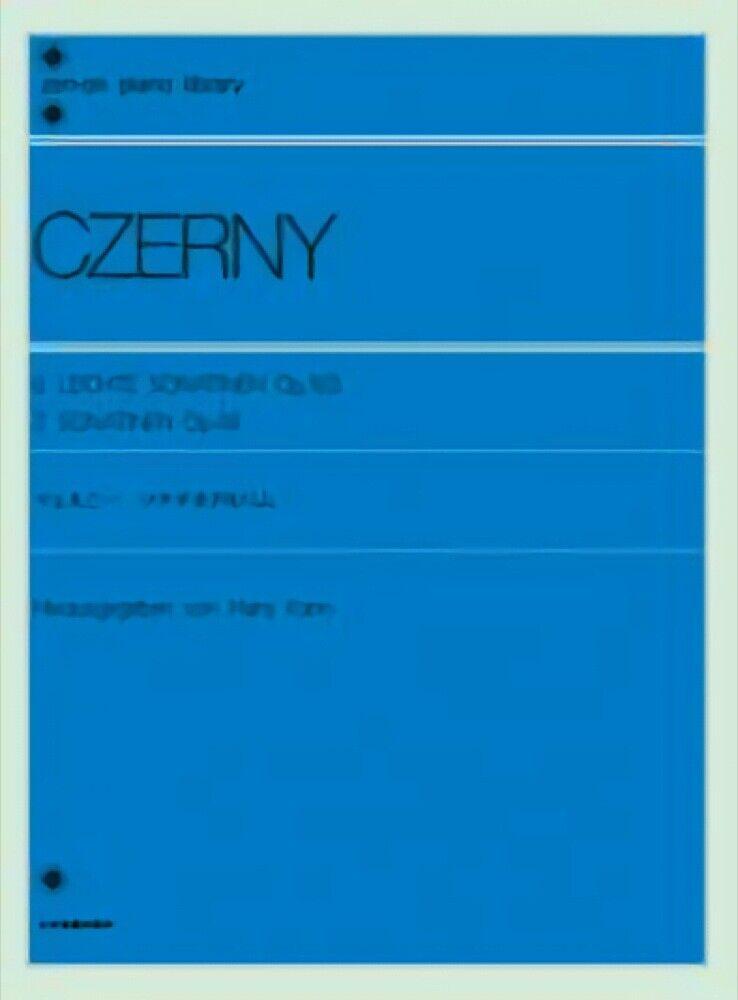 De Czerny 6 6 6 leichte Sonatinen Op.163 Zen-en la puntuación de la Biblioteca de piano Partituras  tienda de venta en línea