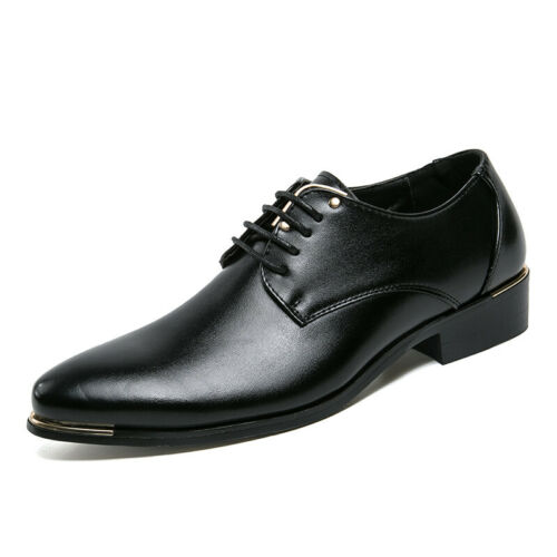 Details about  /Mens Pointy Toe Oxfords Work Office Lace up Casual Dress Formal Business Shoes D