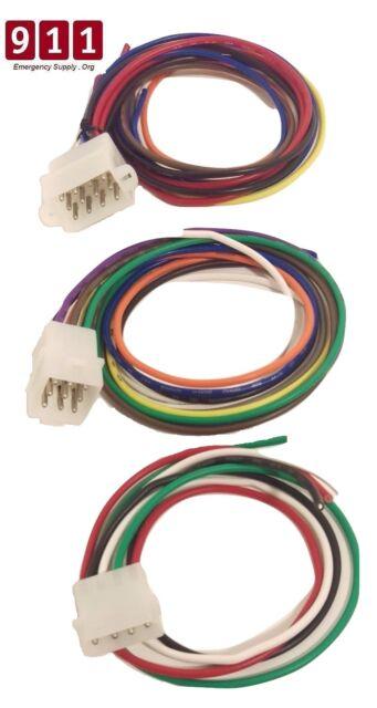 whelen 295hfsa5 4 9 and 12 pin wiring cable kit rear accesory rh ebay com 2000 GMC Radio Wiring Diagram Whelen Control Box Wiring Diagram