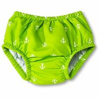 I Play Baby Boy's Ultimate Swim Anchors Green Diaper. Sz L (12-18m) (22-25lbs)