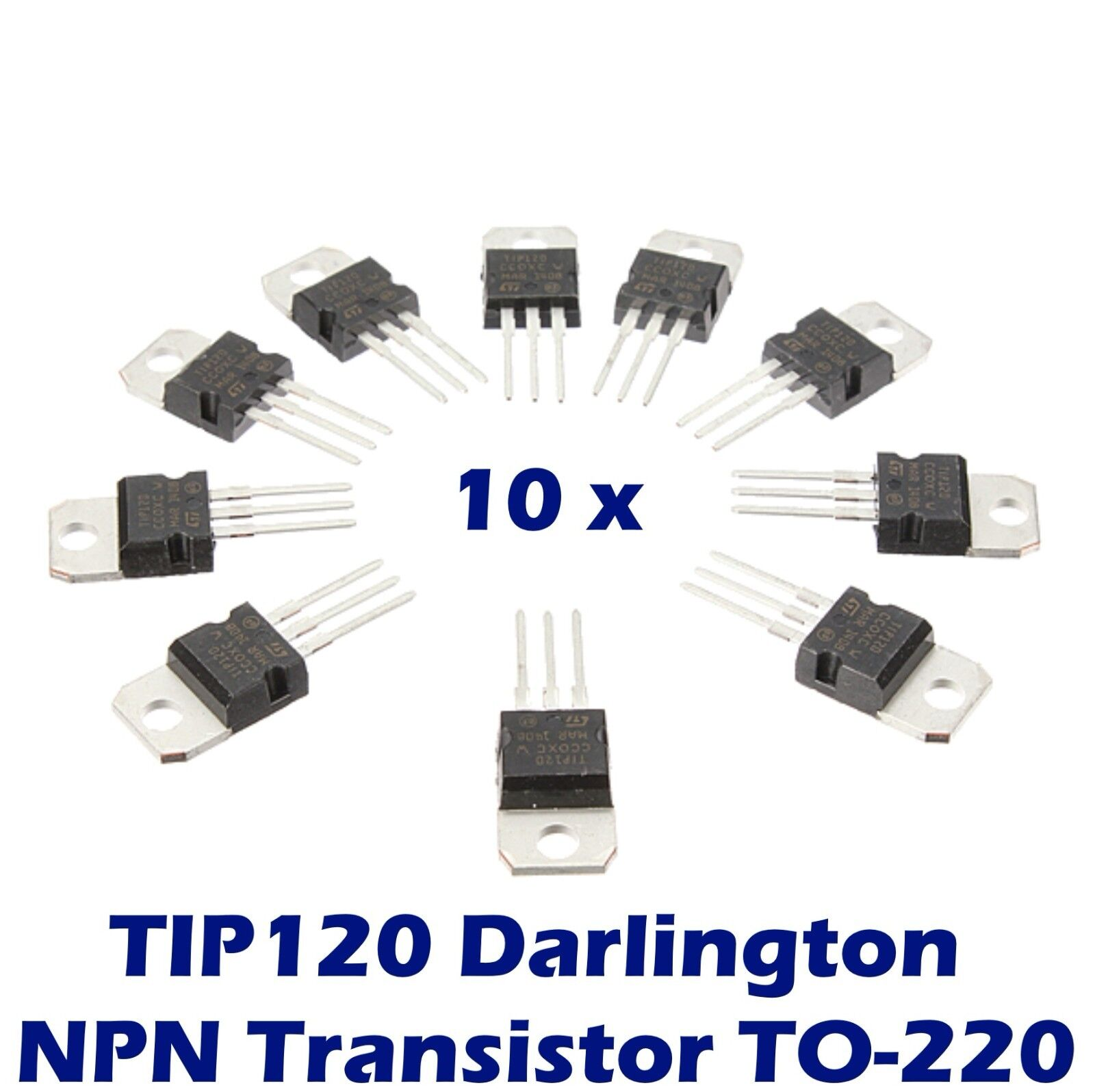 10 Pcs Tip120 Darlington Transistor To 220 Npn Bjt St For Arduino Ebay Amplifier Related Keywords Suggestions Norton Secured Powered By Verisign