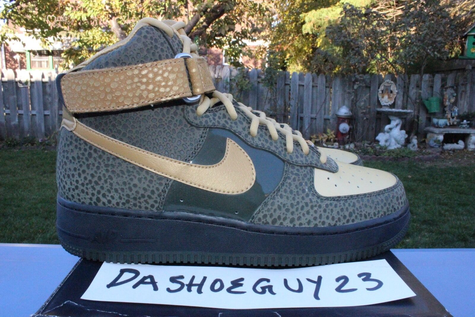 DS NIKE AIR FORCE 1 PREMIUM ZF HIGH HI 9 349384 371 SF SPECIAL FIELD SPNY VLONE