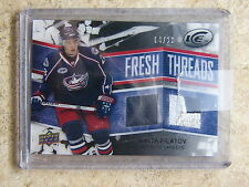 08-09 UD ICE Fresh Threads Jersey Patch Black #FT-NF NIKITA FILATOV Rookie /10