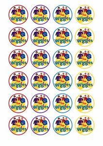 24 x THE WIGGLES Wafer Rice Paper Cupcake Toppers EDIBLE ...