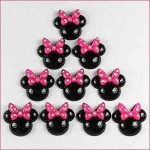 lot 10pcs minnie mouse pink bow resin flatbacks girls. Black Bedroom Furniture Sets. Home Design Ideas
