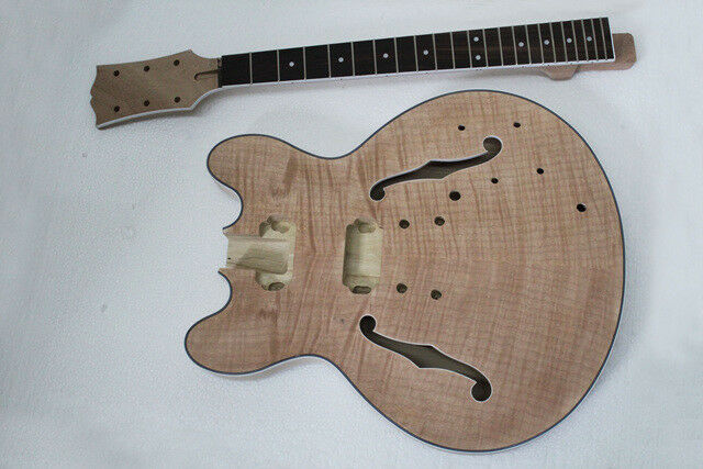 Projekt DIY e-Gitarre Bausatz Jazzgitarre semi-hollow body